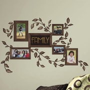 Room Mates 50 Piece Deco Family Frames Peel & Stick Wall Decal Set