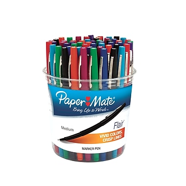 PaperMate Flair Fine Marker, 48 Marker Canister