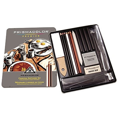 PrismaColour Premier Charcoal Sketching Set, 24/Pack