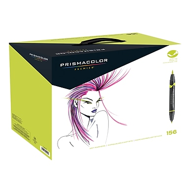 PrismaColour Premier Double Ended Brush Tip and Fine Tip Art Markers, 156/Pack