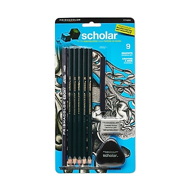 PrismaColour Scholar Graphite Drawing Pencils, 7/Pack