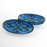 Le Souk Ceramique Sabrine Design Oval Platter (Set of 4)