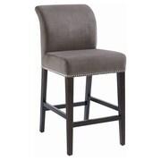 Sunpan Modern 5West 26'' Bar Stool with Cushion; Grey