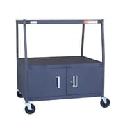 VTI High TV Cart for TV Monitor with Cabinet