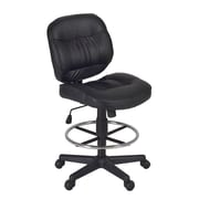 Regency Cirrus Mid-Back Drafting Chair; Black