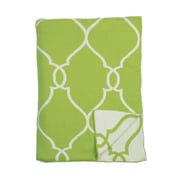ZallZo Lattice Reversible Cotton Throw; Green