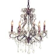 Pangea Home Isabella 6 Light Crystal Chandelier; Rust