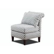 Carolina Accents Ashton Roll Back Slipper Chair; Black