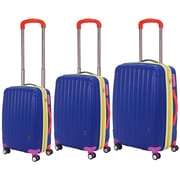 Travelers Polo & Racquet Club Get Away 3 Piece Luggage Set; Blue