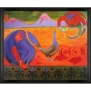 Tori Home Nabic Landscape with Studio Angle by Paul-Elie Ranson Framed Original Painting