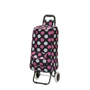 Rockland Santorini Rolling Shopping Tote; Pink