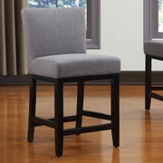 Handy Living Oslo 23'' Bar Stool with Cushion; Smoky Charcoal Gray Linen
