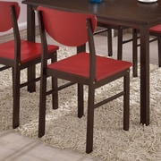 InRoom Designs Side Chair (Set of 4); Red