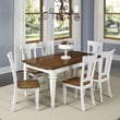 Home Styles Americana 7 Piece Dining Set; White