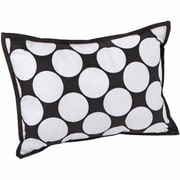 Bacati Dots/Pin Stripes Decorative Cotton Boudoir/Breakfast Pillow; Black/White