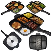 Master Pan Non Stick Divided Meal Skillet 15'' Grill Fry Oven/Dishwasher Safe