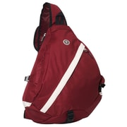 Everest Sporty Sling Backpack; Burgundy / Beige