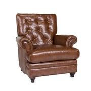 Opulence Home Pablo Leather Arm Chair; Fedora Chestnut