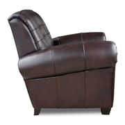 Opulence Home Aaron Arm Chair; Leigh Black Cherry