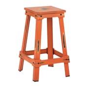 OSP Designs New Castle 26'' Bar Stool; Antique Orange