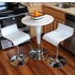 Buffalo Tools AmeriHome Loft 3 Piece Pub Table Set; Glossy White
