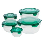 Lock & Lock 5 Piece Variety Bowl Food Storage Container Set with Lid; Green