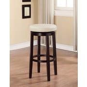 Linon Maya 29'' Swivel Bar Stool with Cushion; Rice