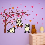 Style and Apply Colorful Panda Kids Wall Decal Set