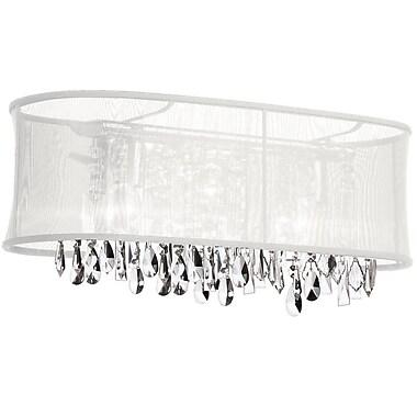 Dainolite Crystal 4-Light Bath Bar; White