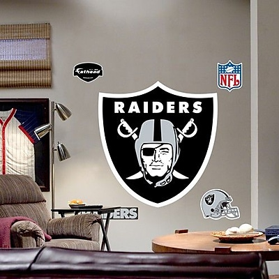 Fathead NFL Logo Wall Decal; Oakland Raiders WYF078276587559