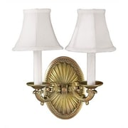 World Imports Lighting Candelabra 2 Light Wall Sconce; French Gold