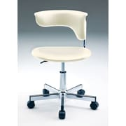 Creative Images International Leatherette Computer Chair; Ivory
