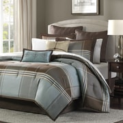 Madison Park Lincoln Square 8 Piece Reversible Comforter Set; Queen
