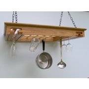 Laurel Highlands Woodshop Wine Glass Hanging Pot Rack