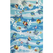 KAS Rugs Sonesta Blue Tropical Fish Area Rug; 3'3'' x 5'3''