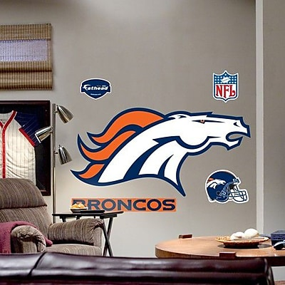 Fathead NFL Logo Wall Decal; Denver Broncos WYF078276535650