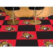 FANMATS NHL - Chicago Blackhawks Team Carpet Tiles; Ottawa Senators