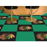 FANMATS NHL - Chicago Blackhawks Team Carpet Tiles; Chicago Blackhawks
