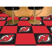 FANMATS NHL - Chicago Blackhawks Team Carpet Tiles; New Jersey Devils