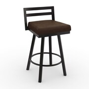 Amisco Urban Style 26.75'' Swivel Bar Stool with Cushion