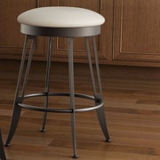 Amisco Library Luxe Style 26'' Swivel Bar Stool with Cushion