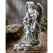Roman, Inc. Solar Power Guardian Angel Statue