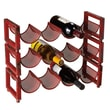 CBK 4 Bottle Tabletop Wine Rack (Set of 3); Red