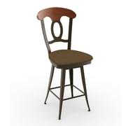 Amisco Countryside Style 30.75'' Swivel Bar Stool with Cushion