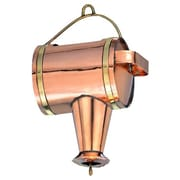 Good Directions Watering Can Rain Chain Leader; Polished Copper