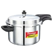 Prestige Cookers Deluxe Stainless Steel Pressure Cooker; 6.5 Liter