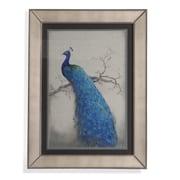 Bassett Mirror Peacock Blue II Framed Painting Print