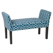Ave Six Kelsey Wood Entryway Bench; Blue