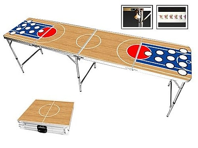 Red Cup Pong Basketball Beer Pong Table in Standard Aluminum WYF078277384924