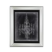 Bassett Mirror Chalkboard Chandelier Sketch IV Framed Painting Print